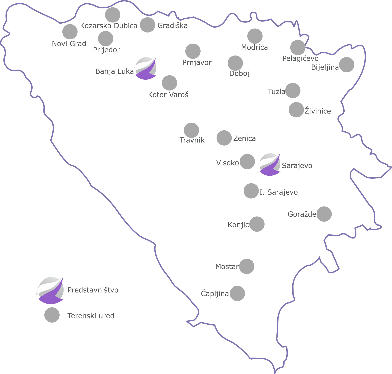 Mapa kancelarija bijela podloga